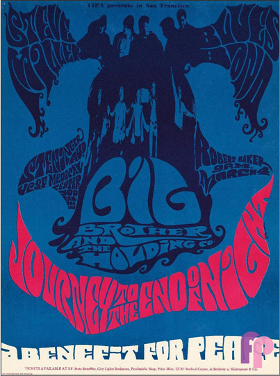 By Krefting, 1 9 6 7,Big Brother and the Holding Company, Steve Miller Blues Band.  Robert Baker