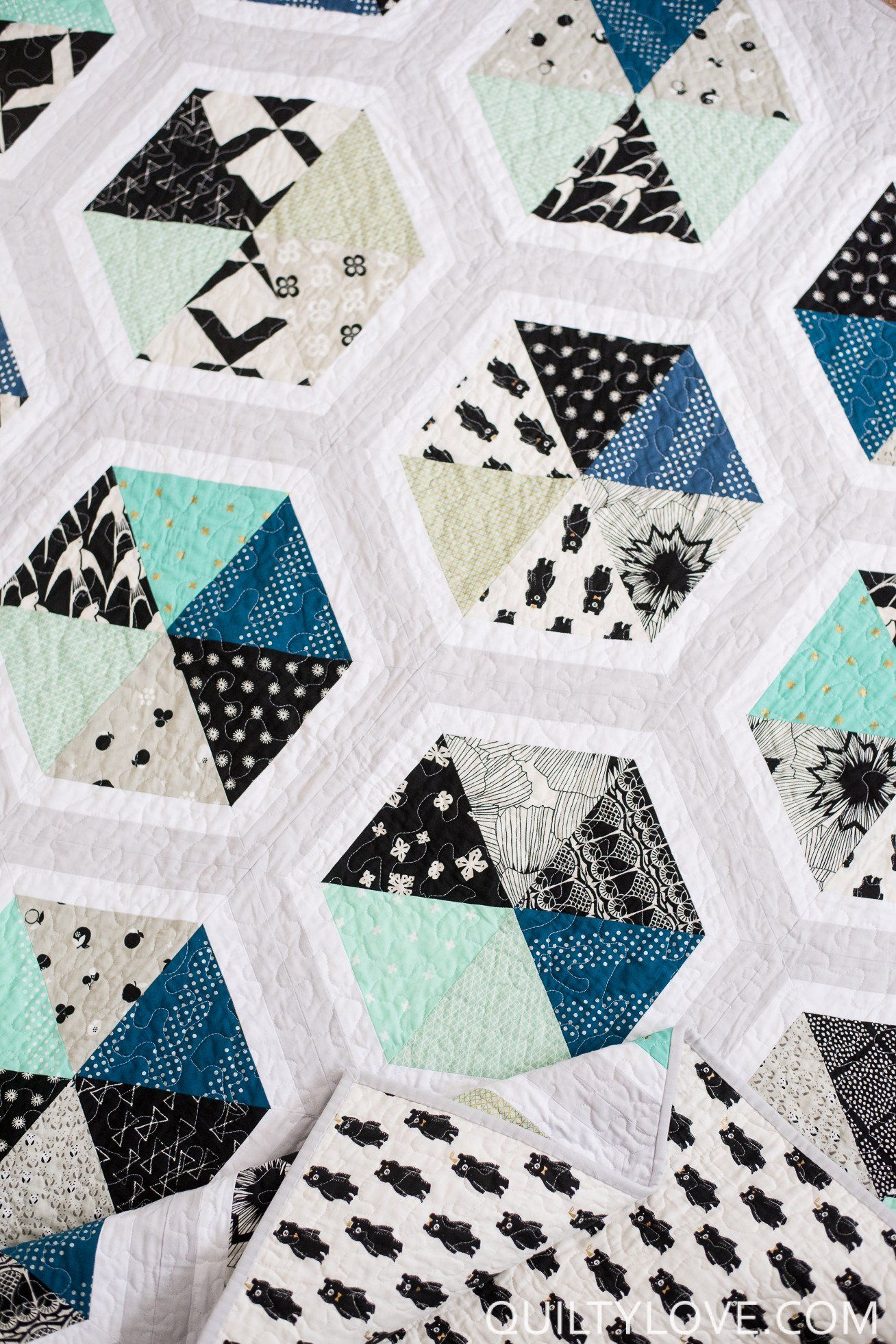 Triangle Hexies PAPER quilt pattern Quilting