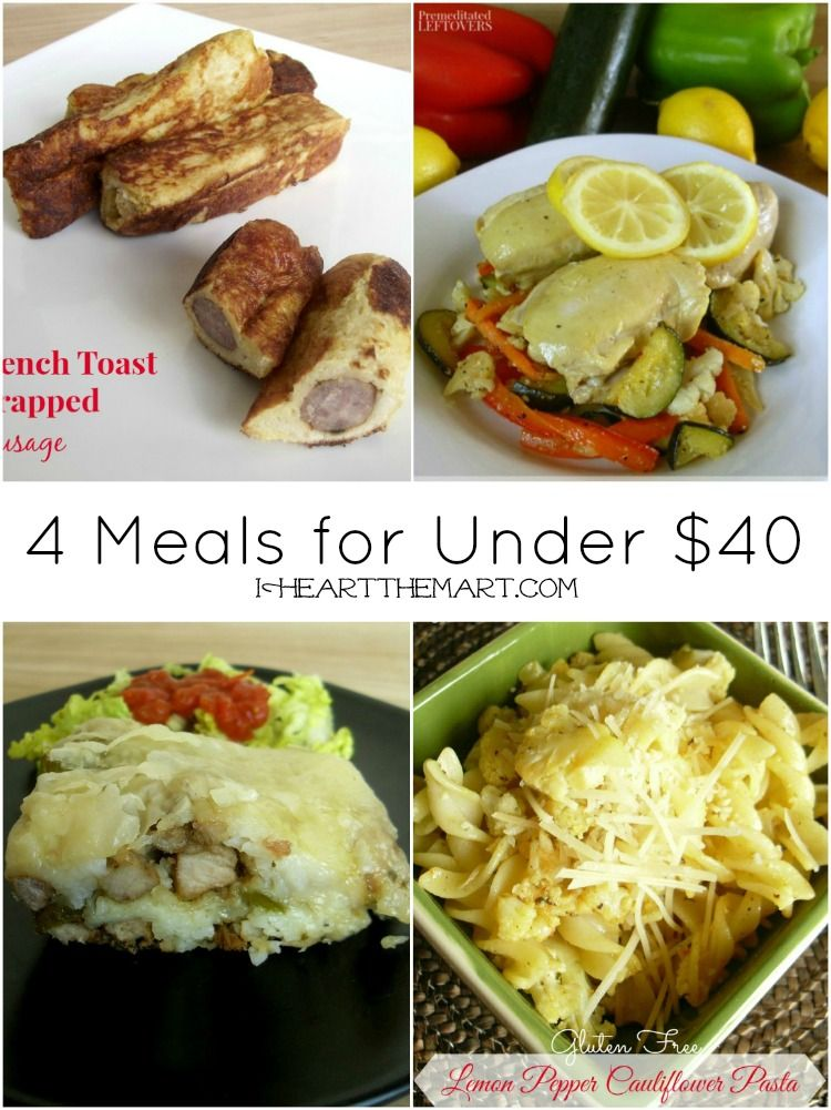 meal plans 4 meals for less than 40