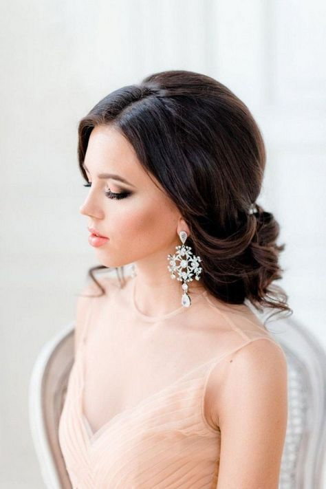 16 Seriously Chic Vintage Wedding Hairstyles Weddingsonline Wedding Hair Side Messy Wedding Hair Wedding Hairstyles For Long Hair