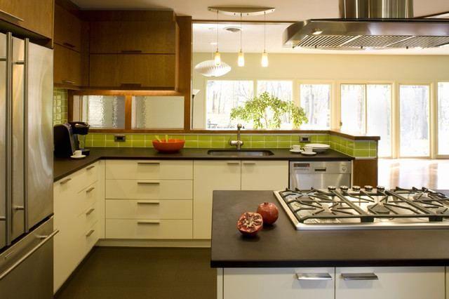 Best Modern Walnut Kitchen Cabinets New Mid Century Modern 400 x 300