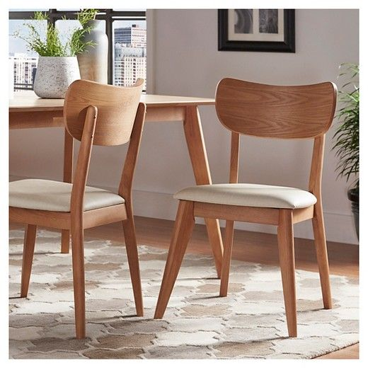 Parker Mid Century Dining Chair Set of 2 Inspire Q