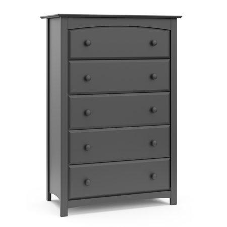 Storkcraft Kenton 5 Drawer Universal Dresser Gray Walmart Com In 2020 Storkcraft Dresser Drawers Simple Storage