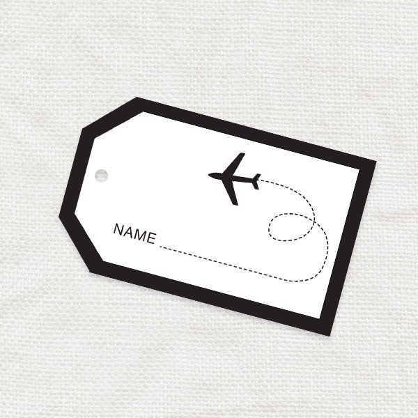 luggage tag template free printable with me mini luggage tag - place card template