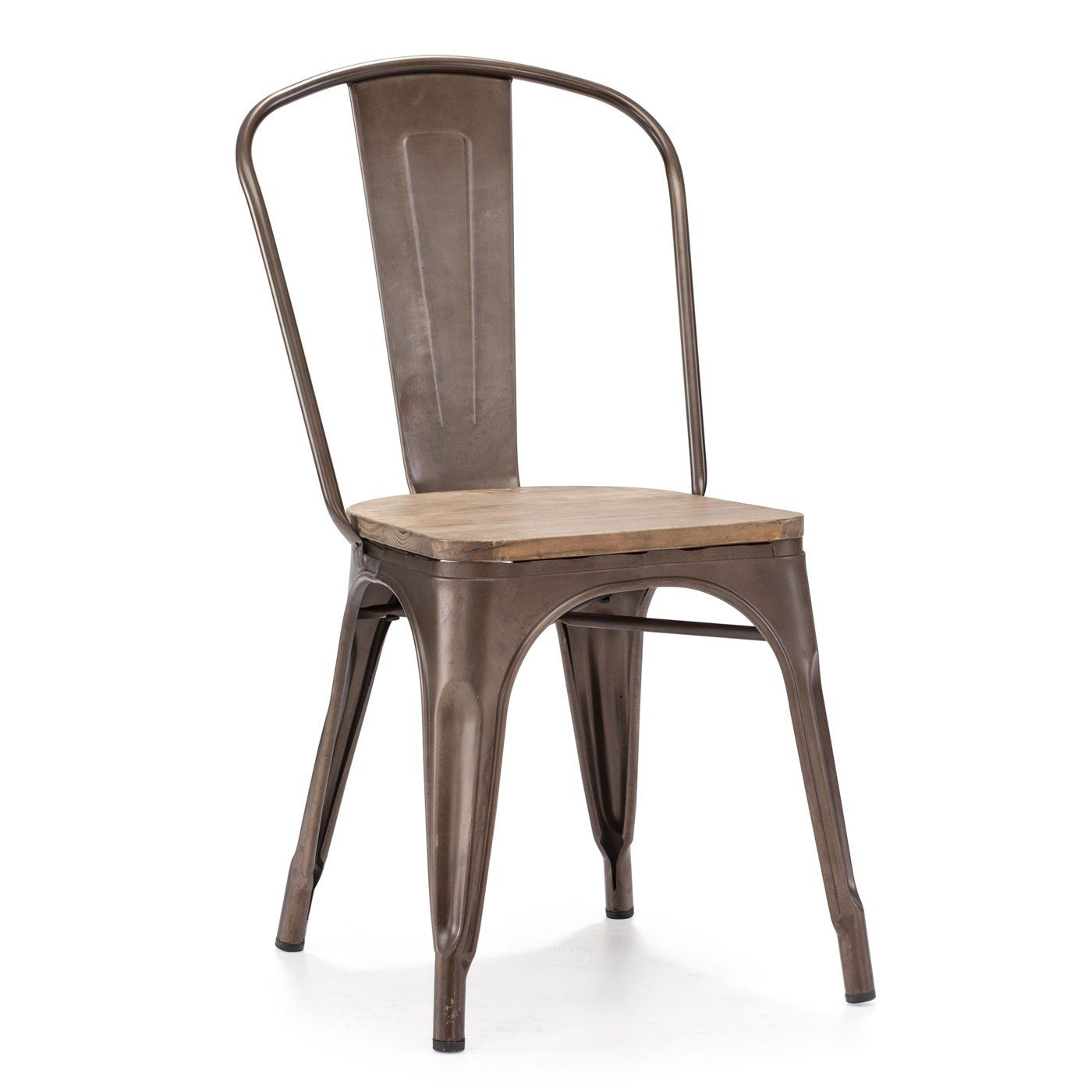 Zuo Modern Elio Wood Seat Dining Chair Set of 2