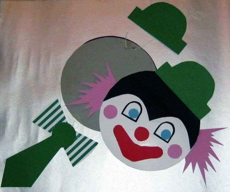 Step by Step Bastelanleitungen Bastelvorlage Clown aus Tonpapier
