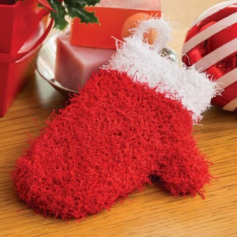 Red Heart® Holiday Mitten Scrubby Knit Yarn Kit $9.99