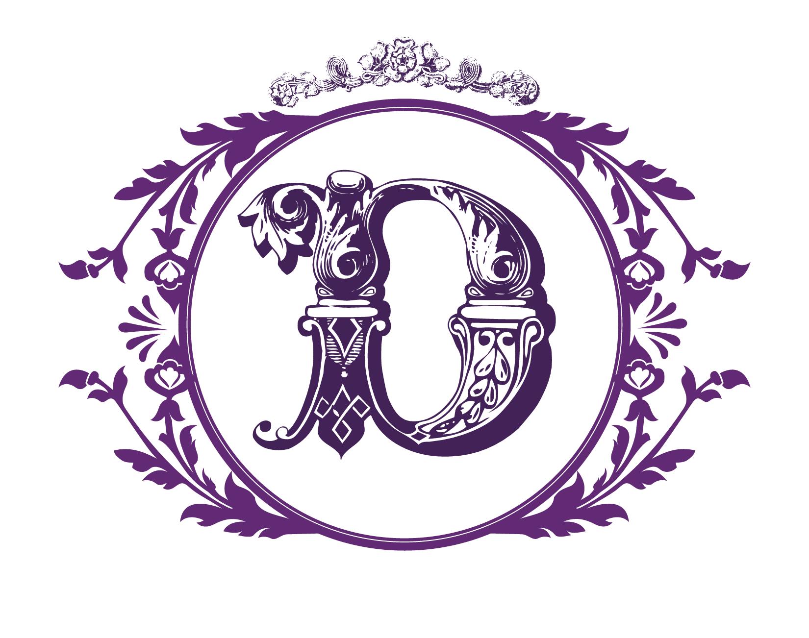 ornate letter d with border ornatedesign