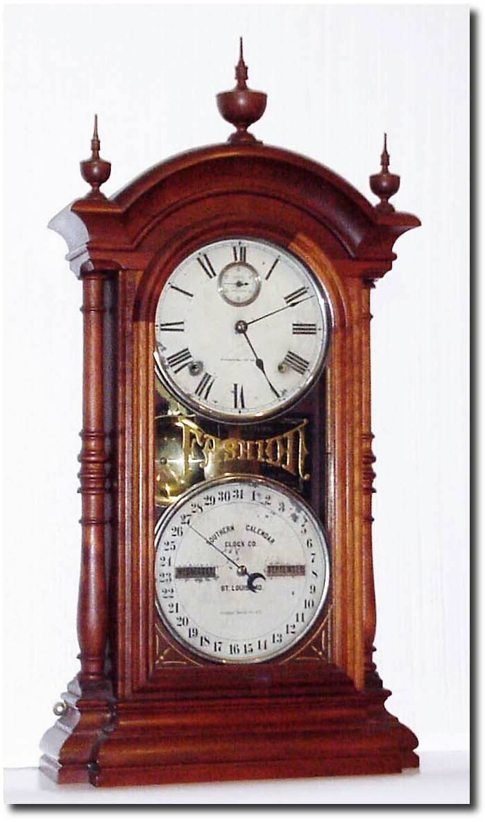 Image Detail For Antique Southern Calendar Clock Company Model Clock Antique Wall Clocks Clock Vintage Clock
