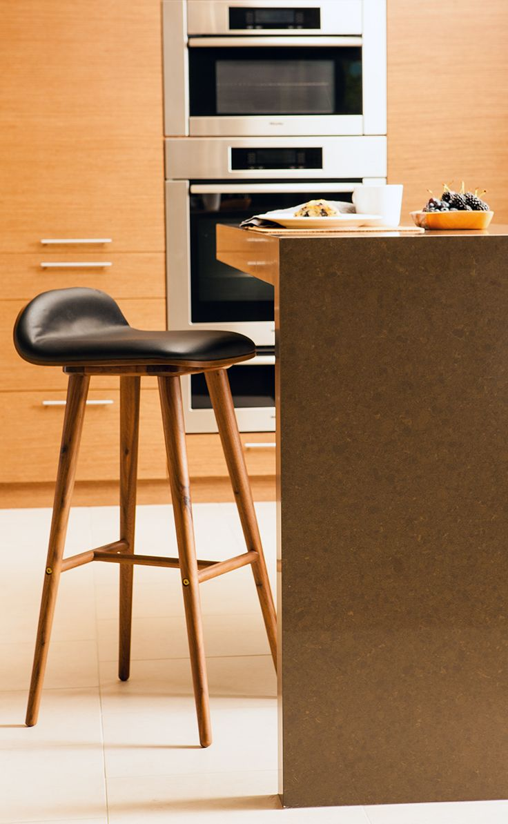 Sede Black Leather Walnut Bar Stool Furniture Design Kitchen