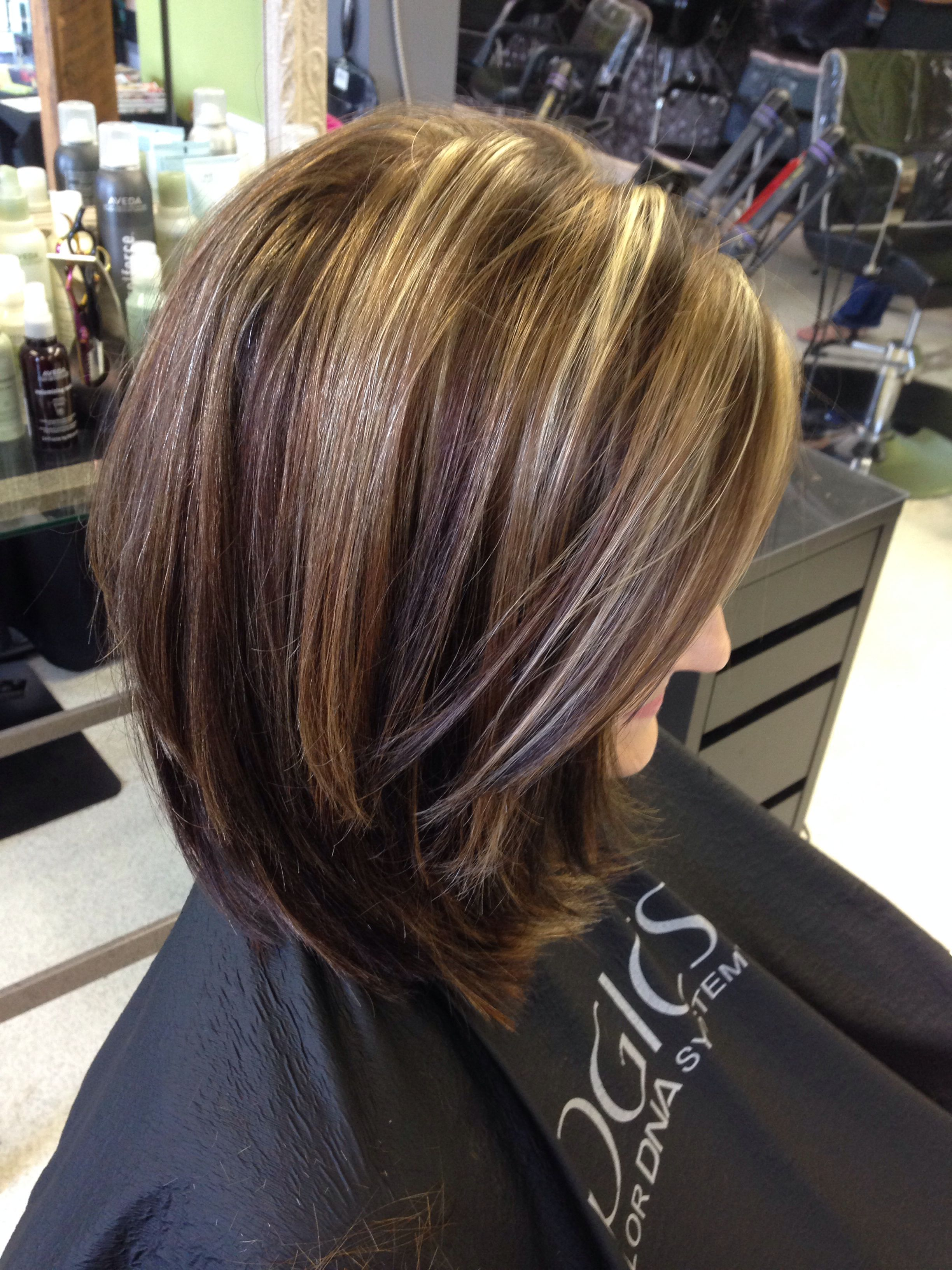 Short Hairstyles With Highlights And Lowlights Highlights And Lowlightstrisha Fringe Salon Lennon Mi  Short