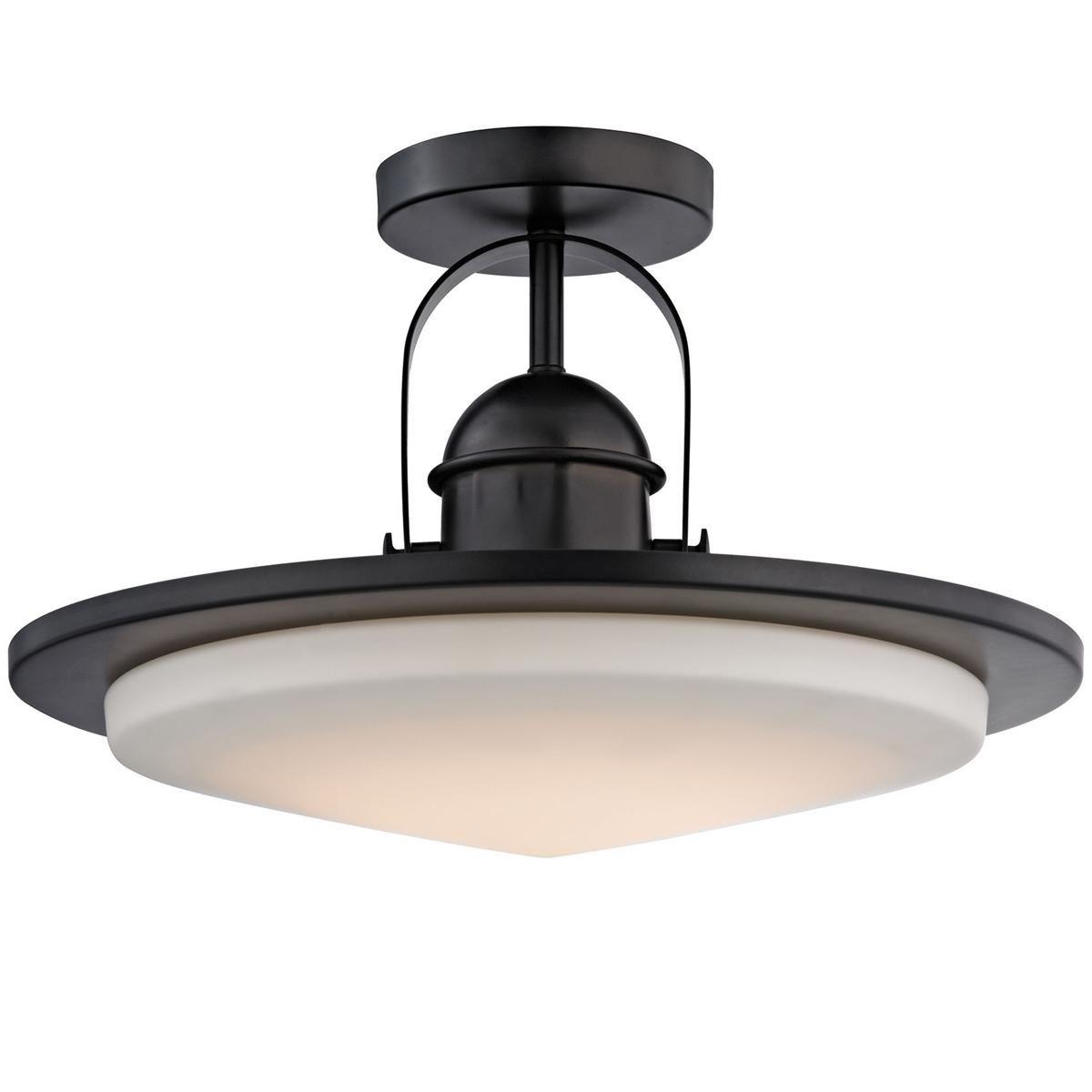Modern Industrial Minimalist Led Semi Flush Ceiling Light Semi Flush Ceiling Lights Glass Diffuser Flush Ceiling Lights