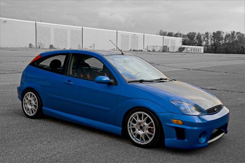 Blue Ford Focus Mk1 Low Big Rims Usa Version Ford Focus Svt