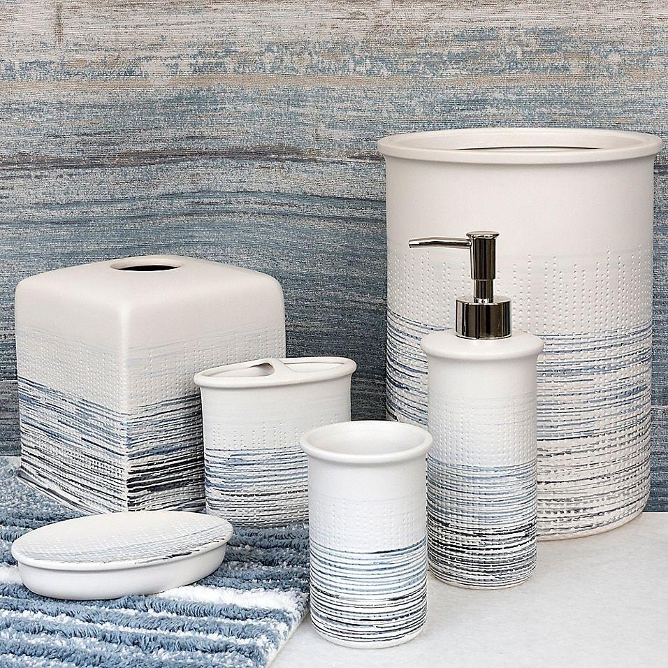 Croscill Nomad Lotion Dispenser In Blue Blue Bathroom Accessories Bath Accessories Croscill