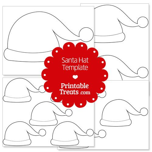 photo relating to Santa Hat Printable called Pin upon Xmas Printables