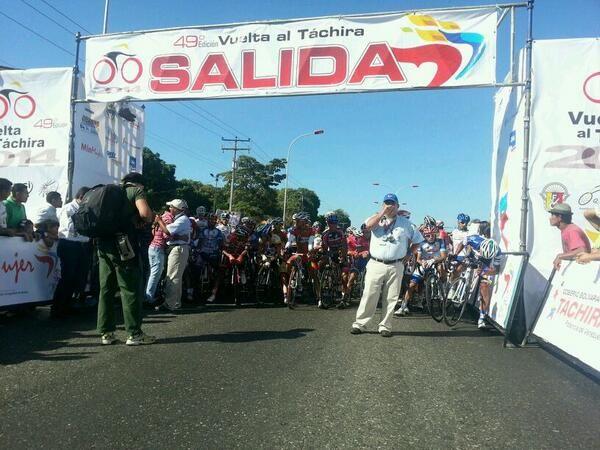 Todo listo para comenzar con #VueltaAlTáchira (@RupertoteleSUR)