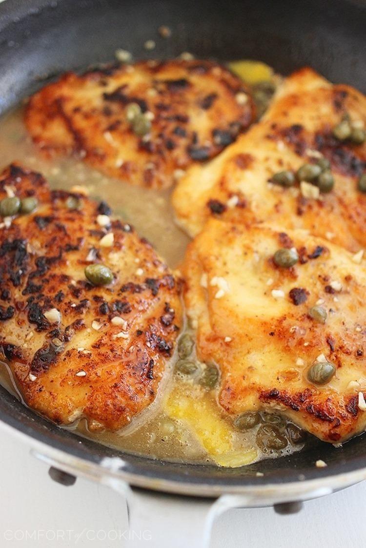 Photo of Skinny Lemon Chicken Piccata