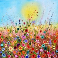 Field With Flowers Would Be Cute Buttons And Jewelry Happy FlowersColorful FlowersArt