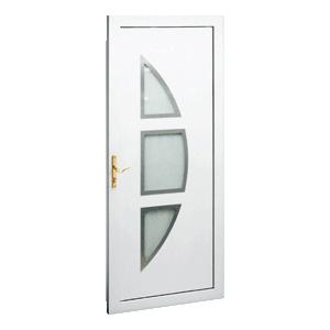 Porte Dentrée PVC Lambda Vitrée Inserts Gefradis Fabrication - Porte de garage sectionnelle avec porte d entree pvc vitree
