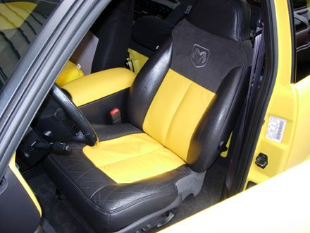 1999 Dodge Dakota R T By Michael Burkhardt Durango Interior Leather Buckets With Black With Yellow Leather Inserts Yellow Leather D Dodge Dakota Dodge Dakota