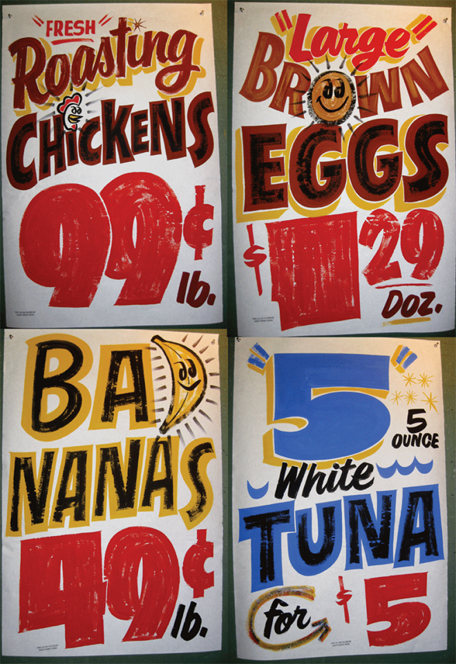 Market Signage Sign Painting Lettering Hand Painted Signs Vintage Painted Signs
