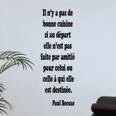 Sticker Une bonne cuisine - Paul Bocuse