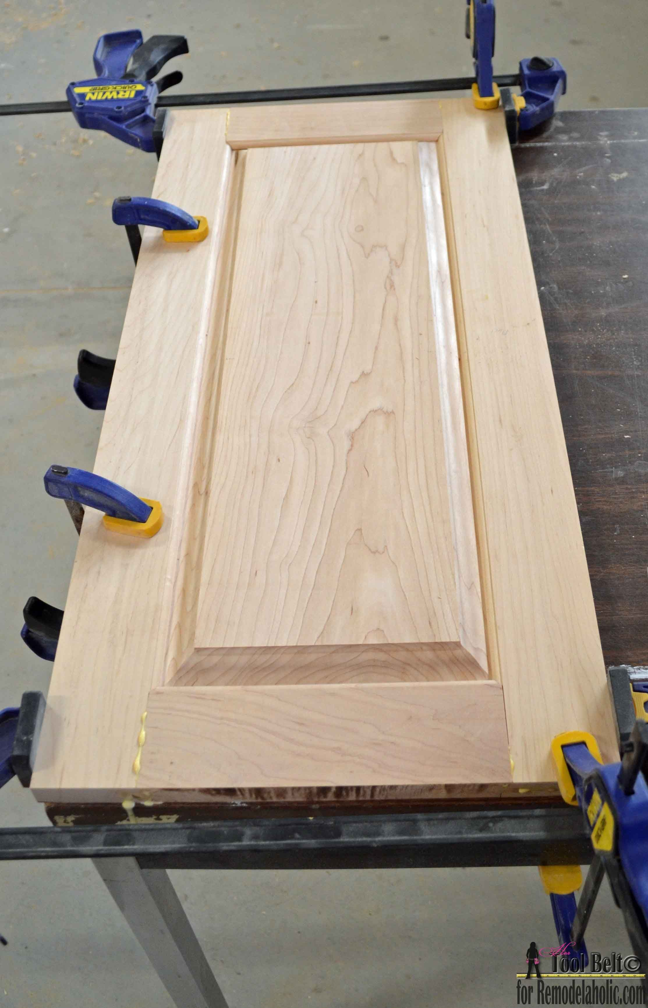 Build your own custom raised panel cabinet doors for your home or