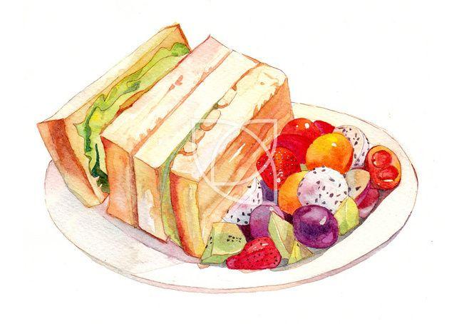 food sketch a kao t quao ha nh ao nh cho banh ma kao p