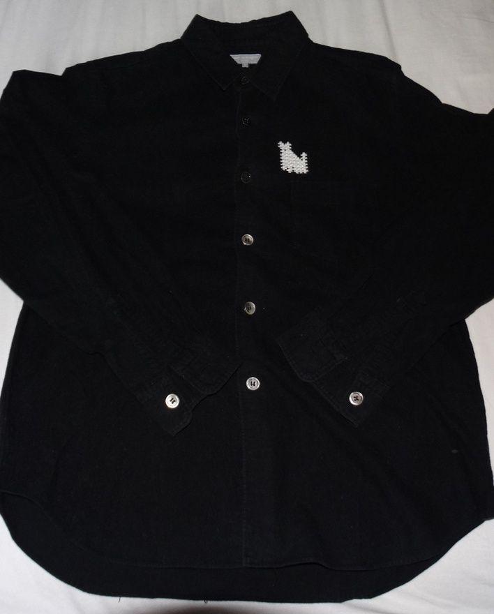 6bf35e4f2 Comme des Garcons Comme Des Garcons Black shirt cat size S made i, Japan  VERY