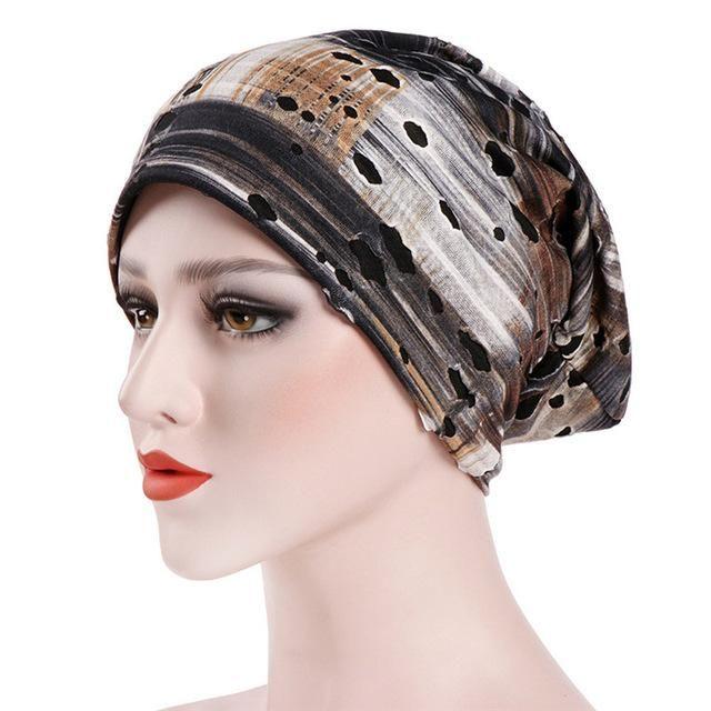b03eb49cd70 Women India Hat Casual Muslim Fashion Ruffle Cancer Chemo Hat Beanie Scarf  Turban Head Wrap Cap Fitted  FA23
