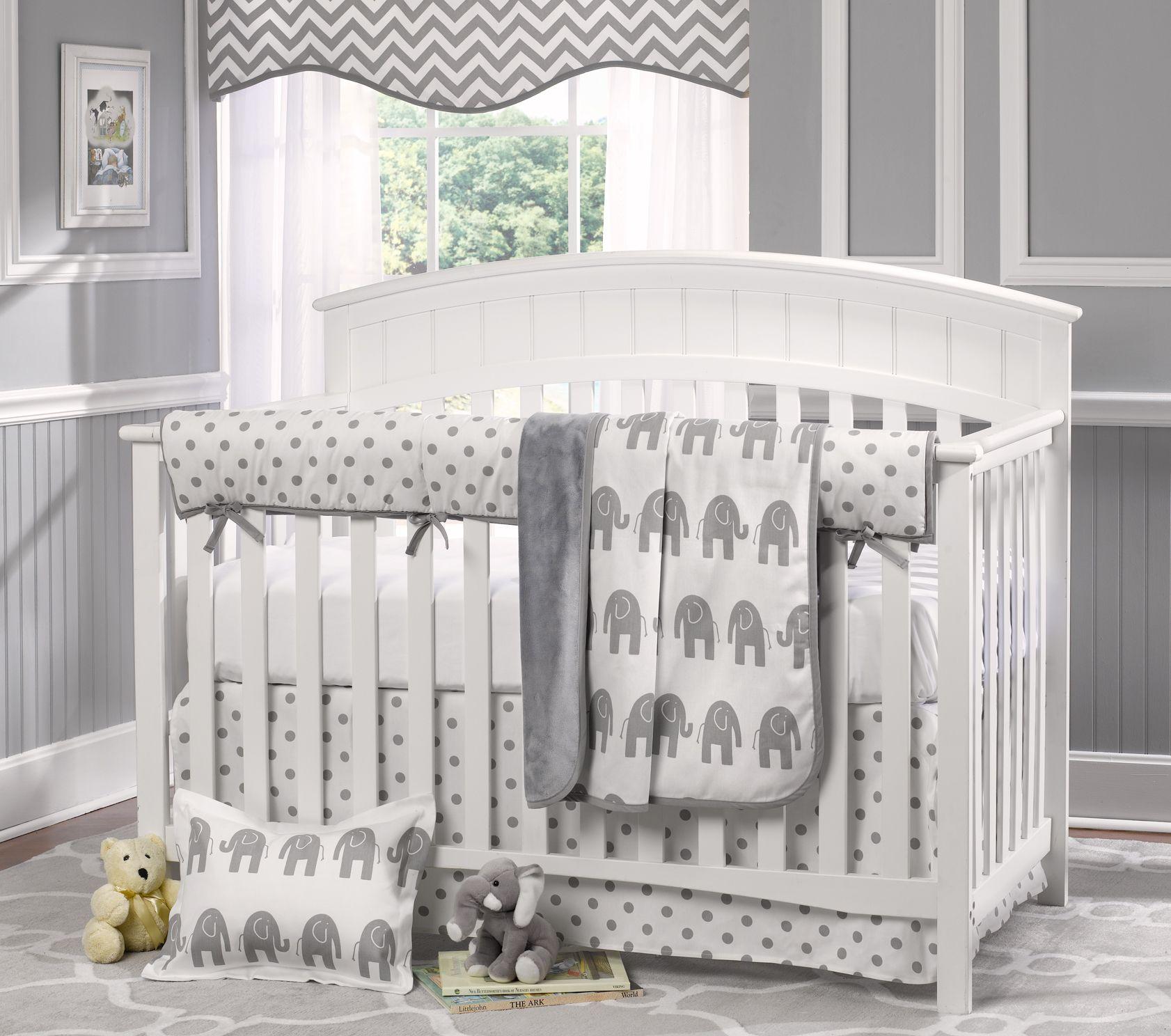 Gray Elephant Baby Bedding Crib Bedding Pinterest