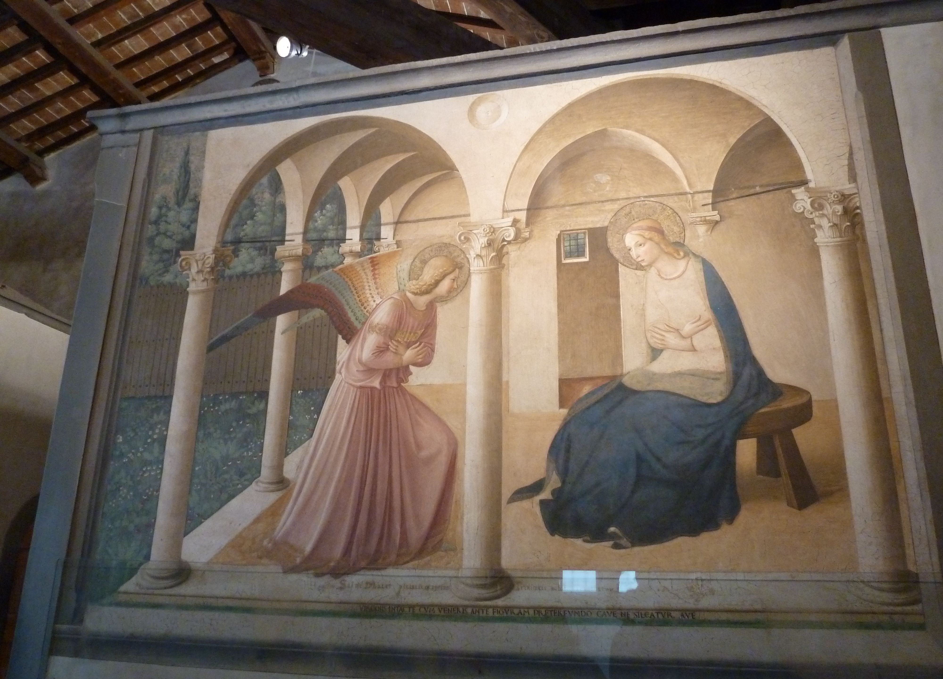 Annunciation, corridor of San Marco monastery in Florence, 1442-43 ...