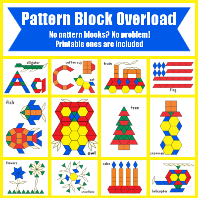 Free pattern block templates worksheets printables for pre k free pattern block templates worksheets printables for pre k to second grade pinterest pattern blocks pattern block templates and free pattern pronofoot35fo Choice Image