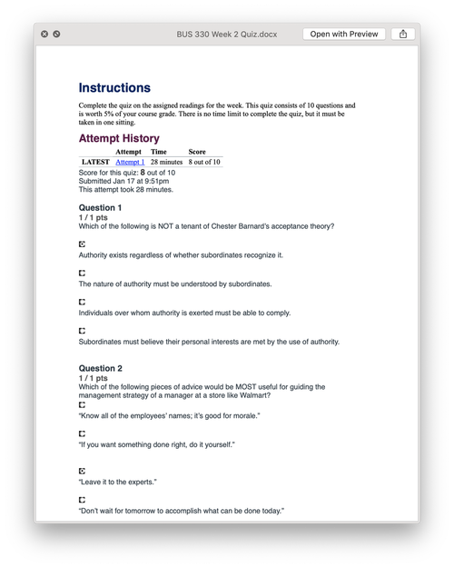 BUS 330 MARKETING PRINCIPLES Week 2 Quiz Answers (2019) в 2019 г