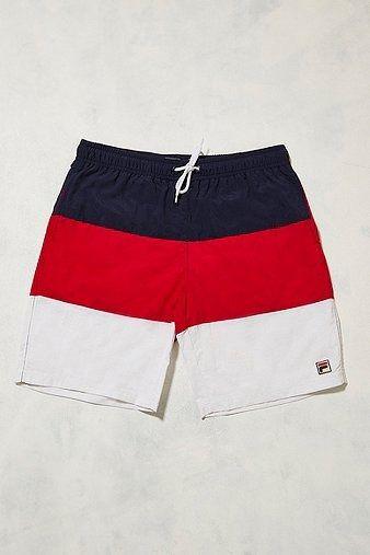 FILA Bean Stripe Swim Shorts