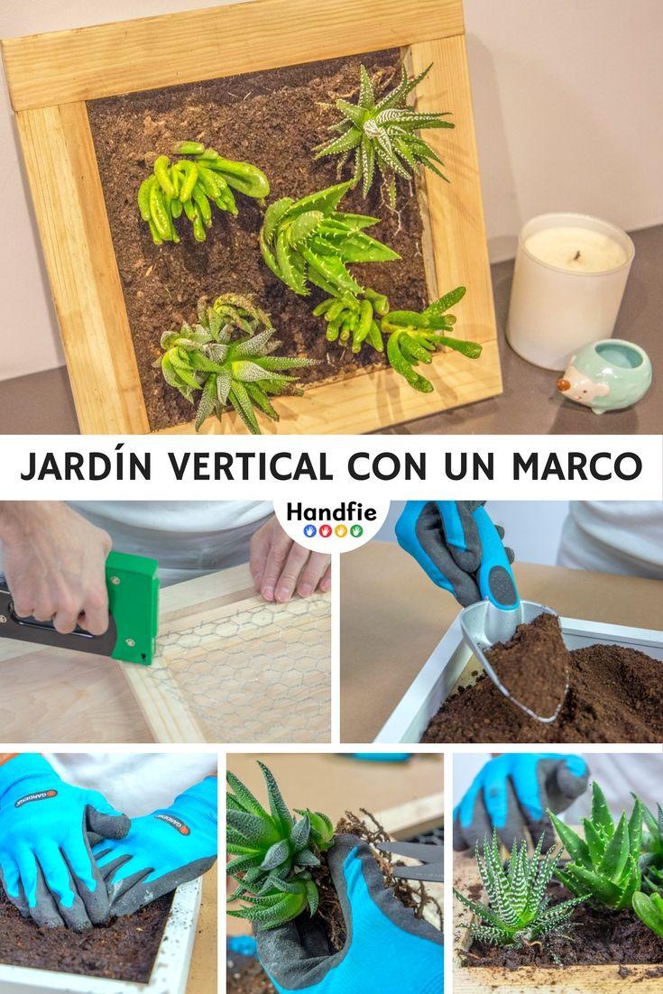 Jardín vertical con un marco | Marcos de ikea, Malla metalica y ...