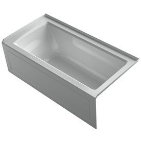 Kohler Archer Three Wall Alcove Soaking Tub With Left Hand Drain And I  Biscuit Tub Soaking Alcove