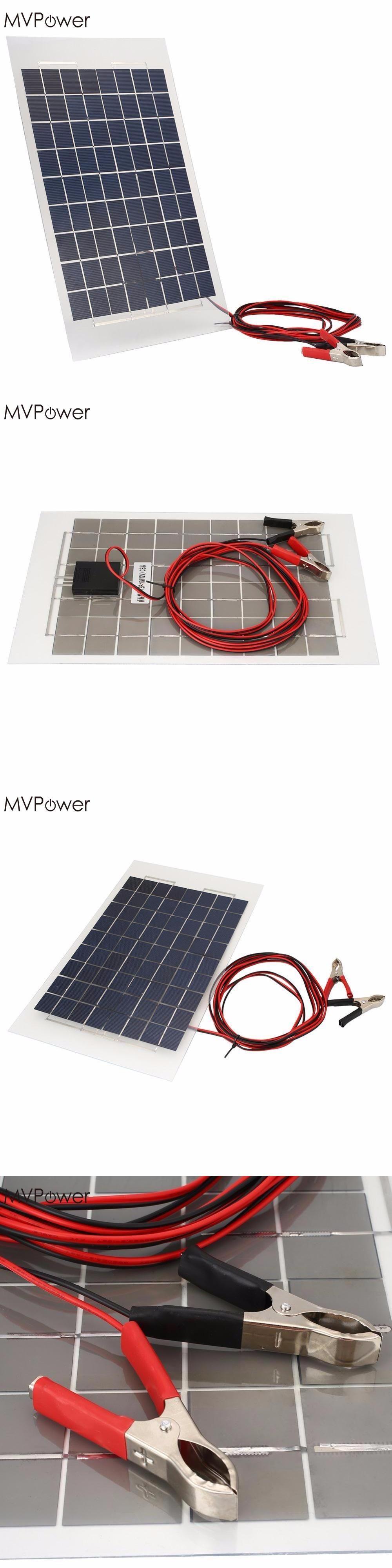 mvpower portable 18v 10w solar panel bank diy solar charger panel