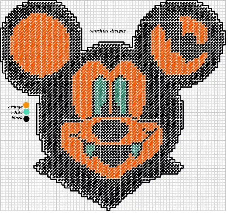 MICKEY MOUSE AS A VAMPIRE by SUNSHINE DESIGNS | plastic canvas ...