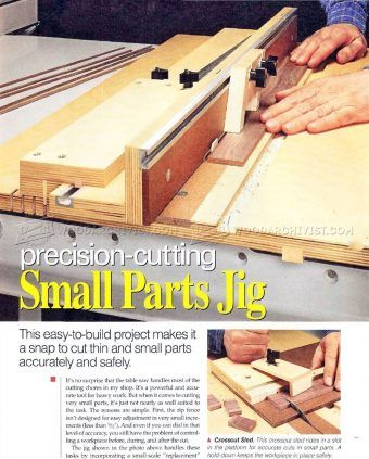 Style Of 2476 Small Parts Cutting Jig Table Saw Contemporary - Contemporary small woodworking ideas Simple Elegant