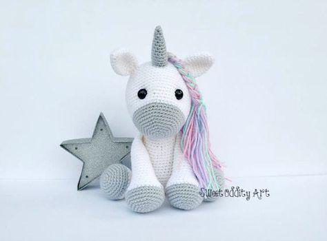 Amigurumi Unicornio Tutorial : Crochet de unicornio muñeca unicornio juguete del unicornio