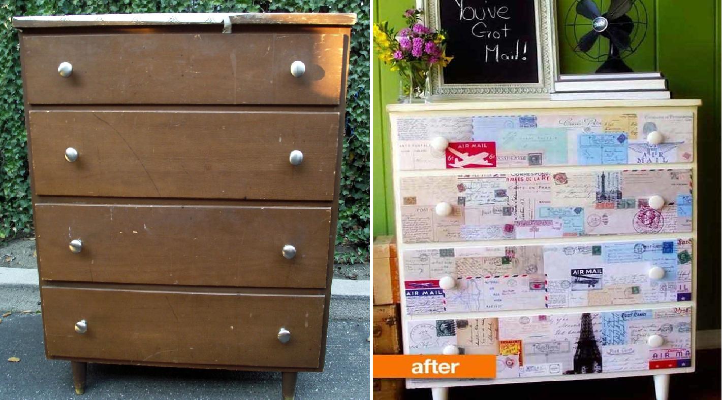 Avant - Après : 25 meubles relookés avec du papier peint - Page 2 sur 3 | Mobilier de salon ...