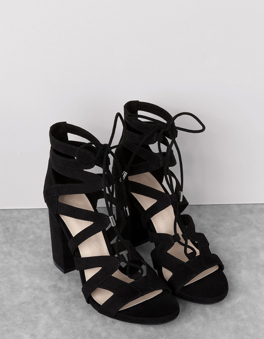 Tied heeled sandals - View All - Bershka Turkey