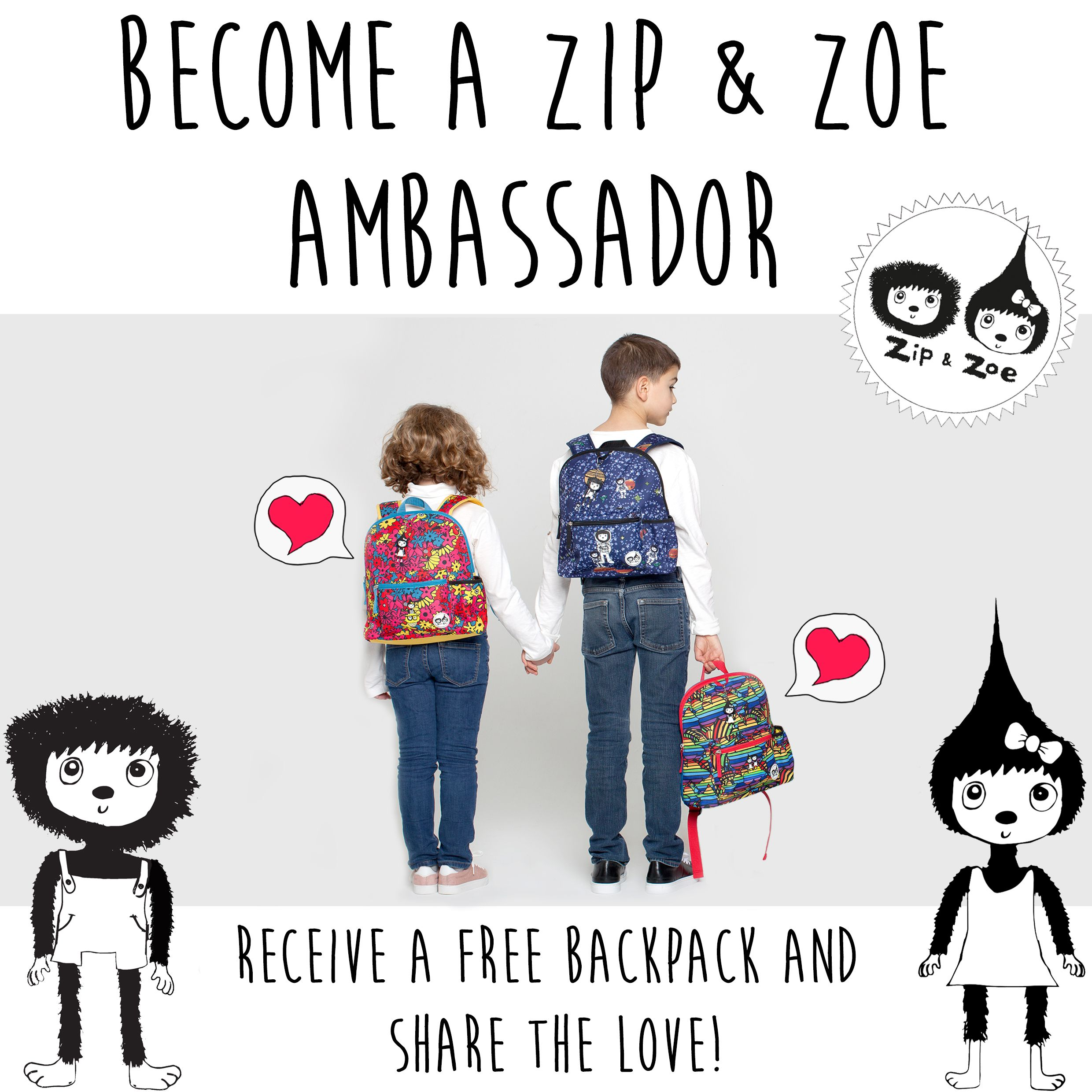 775afd207a9 FREE Zip & Zoe Backpack | Freebies of the Day UK | Freebies uk, Free ...