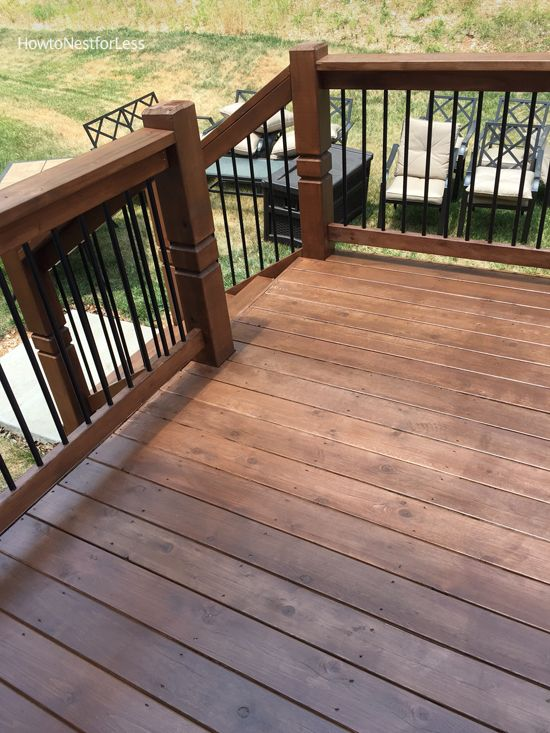 Stained Deck Outdoors Deck Stain Colors Deck Colors Deck