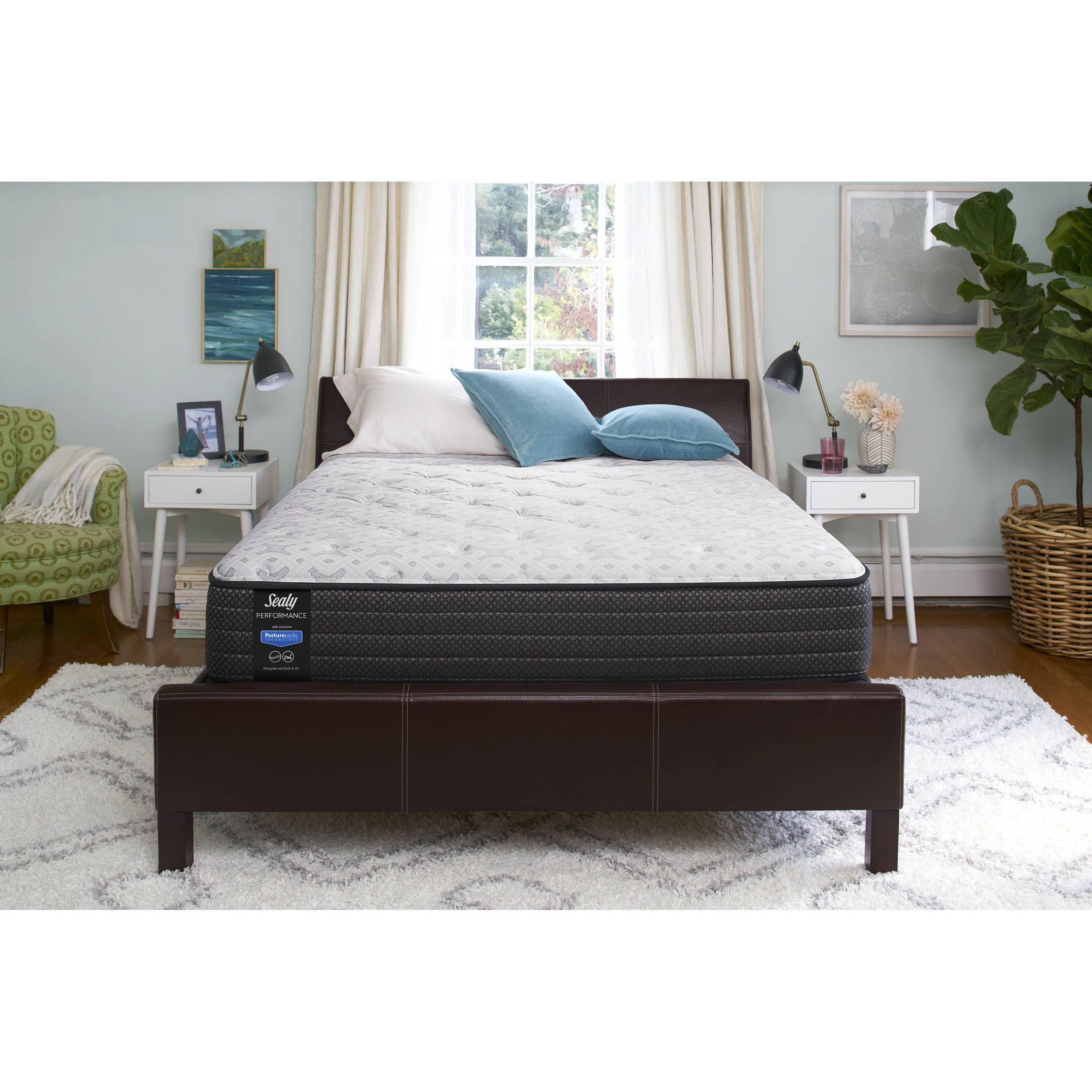 sealy response performance 12 inch plush queen mattress set 9 inch