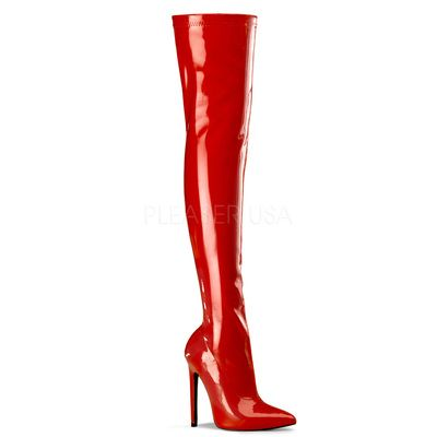 Pleaser SEXY-3000 Boots Red Str. Pat