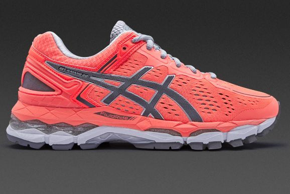 dce9ffdc13ac Asics Womens Gel-Kayano 22 - Flash Coral Carbon Silver Grey ...
