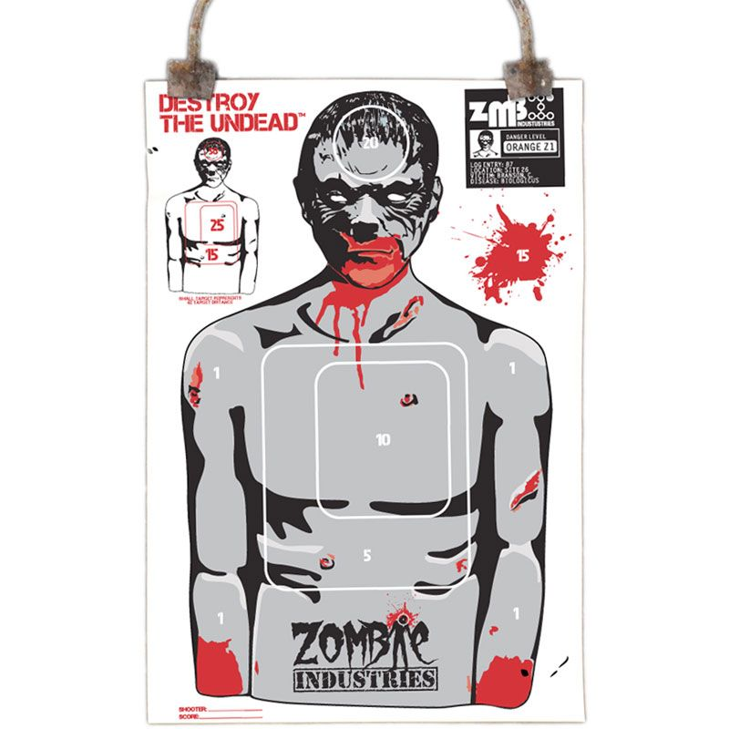 Zombie Paper Targets - 25 Pack - Full-Size x - Perfect For Rifle, Pistol,  BB/Pellet Guns Innovative scoring system allows you to crush your friends  or ...