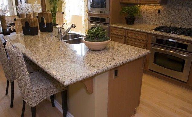Die Eco Antik Oberflächenbearbeitung einer Granit Arbeitsplatte - küchenarbeitsplatten granit preise